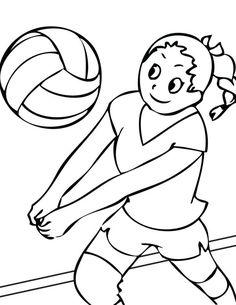 voleibol para colorear nina jugando al voleibol dibujo de cancha de voleibol para colorear