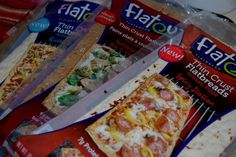 Flat Bread Pizza's ~Low calorie yum Yums!