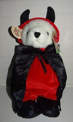 "Ganz Wee Bear Village ""L'IL Devil"" Bear with Tags 12""  No. HV3361 Vintage 1999 #Halloween"