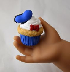Disney inspired Donald Duck Cupcake for by StaceyMorganStudios