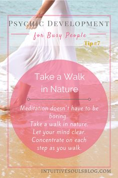 If you can't meditate, take a walk in nature or a warm bath. It can have the same meditative effect.