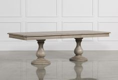 Caira Extension Pedestal Dining Table - Living Spaces