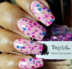 Vapid Lacquer Ishtar topped with Freckled Faerie no flash