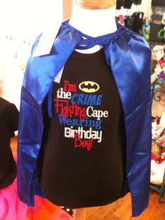 Superhero Birthday Shirt