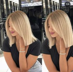 – Lisa Scheiderer – – You are in the right place about Ombre Hair balayage Here we offer you the most beautiful pictures about the Ombre Hair diy you are looking for. When you examine the – Lisa Scheiderer – –[. Blonde Color, Hair Color, Pretty Hairstyles, Bob Hairstyles, Medium Hair Styles, Short Hair Styles, Light Hair, Balayage Hair, Hair Looks