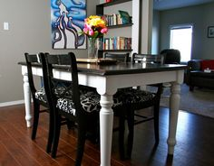 Refinished top black oak table and chairs How to Refinish and Repair an Oak Dining Room Table and Chairs