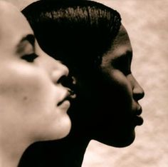 """Ebony & Ivory"" (Christy Turlington and Naomi Campbell) Photographer: Anton Corbijn, The Netherlands Christy Turlington, Copic Color Chart, Darker Shades Of Grey, Wale, Robert Mapplethorpe, Foto Art, Famous Photographers, Photo Black, Naomi Campbell"