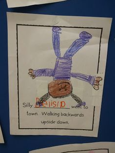 Use the Book, Silly Sally to review rhyming