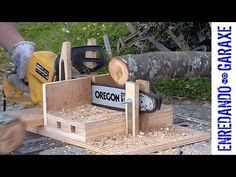 Testing how to cut branches with the chainsaw cutting jig. After using this jig for a while I think the best way to cut branches with this chainsaw cutting j. Chainsaw Sharpening Tools, Fireplace Blower, Log Saw, Firewood Logs, Rough Wood, Wood Shed, Pinterest Diy, Useful Life Hacks, Wood Cutting