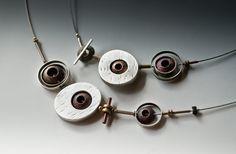 Orbit Necklace, sterling, copper, brass, steel, OOAK on Etsy, Rone Prinz