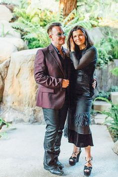 Ali Hewson and Bono having a moment outside at the frog pond. It meant a lot to us that they both were able to share this special day with us, our family, and closest friends. Zoo Station, Ali Hewson, Bono U2, Larry Mullen Jr, Vogue Wedding, Intimate Weddings, Wabi Sabi, Cool Bands, My Music