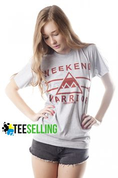 Weekend Warrior T shirt Adult Unisex men and women - Our T Shirts are individually customized and printed for every single order Cute Graphic Tees, Graphic Shirts, Warriors T Shirt, Celebrity Closets, Funny Shirt Sayings, Streetwear Brands, Used Clothing, Workout Shirts, Nice Dresses