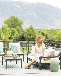 Outdoor deck and patio makeover in the mountains - Joss & Main x Ivory Lane