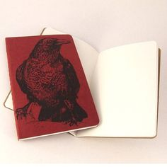 Red Raven Moleskine Notebook by feltmeupdesigns on Etsy