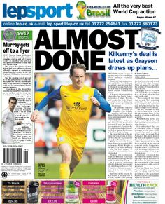 Lancashire Evening Post back page 24/06/14