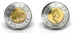 2003 was the last year the Dora de Pedery-Hunt design of Her Majesty's effigy appeared on the two-dollar circulation coin. Canadian Coins, Two Dollars, End Of An Era, Effigy, Dollar Coin, Coin Collecting, Birth, Two By Two, Canada