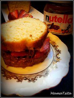 cake nutella strawberries