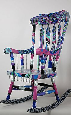 Art Furniture Painted Funky | Fine and Funky Hand Painted Furniture Canvases