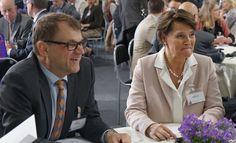 Ministerit Juha Sipilä ja Anne Berner.