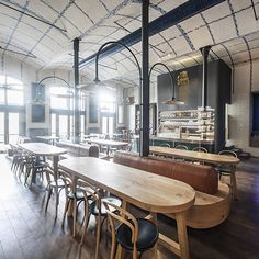 IO Studio references Czech porcelain inside modern beer hall for Radegast