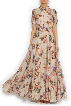 Платье-рубашка в пол NATANIEL DOBRYANSKAYA