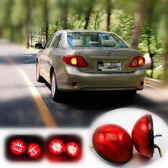 Sale For 2007 2010 Toyota Corollakorolla Car Led Rear Bumper Reflector Lights Parking Brake Tail Light #Rear #Bumper
