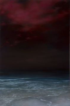 "Elsa Muñoz - ""Nightshore"" oil on panel, 36"" x 24"""