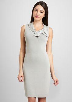 ADRIENNE VITTADINI.  Paige Bow Collar Sheath Dress.  STEEL SKY.  ideeli.  $35.99