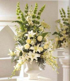 314 Mejores Imágenes De Arreglos Florales Para Iglesia En