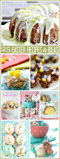 Easter: 25 Delicious Recipes and Adorable Crafts Ideas. the36thavenue.com #easter