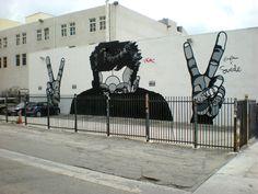 Street art by David Flores in Santa Barbara, California.