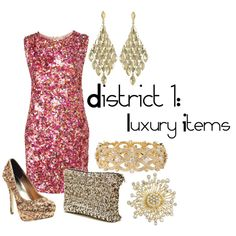 District 1: Luxury Items, created by checkers007.polyvore.com Outfit for The Hunger Games, District 1: Luxury Items.