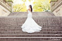 Dress from St. Patrick via Lotus Bridal in Brooklyn! #CentralPark - Photo credit: www.cassiclaire.com