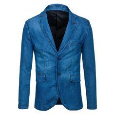 Štýlové pánske sako modrej farby so svetlými bodkami - fashionday.eu Blazer, Jackets, Men, Fashion, Down Jackets, Fashion Styles, Jacket, Blazers, Fashion Illustrations