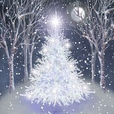 Album 2 « Gallery 18 « Christmas (by category) « Jan Pashley – Illustration / Design Christmas Paintings On Canvas, Christmas Tree Painting, Christmas Canvas, Winter Painting, Christmas Art, White Christmas, Vintage Christmas, Christmas E Cards, Scandinavian Christmas