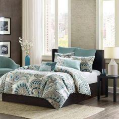 Ink + Ivy Mira Comforter Set in Blue - BedBathandBeyond.com-cotton