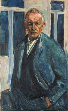 Self-Portrait with Hands in Pockets 1923–26 / Oil on canvas / 104 x 65 cm, Edvard Munch