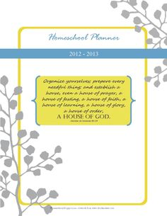 FREE Homeschool Daily Planner 2012-2013 | Real Life Homeschooling