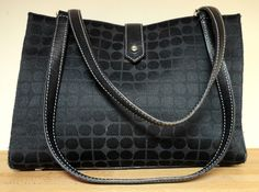 AUTH KATE SPADE TOTE LEATHER AND FABRIC,, SALE 150.00 SHALL02@HOTMAIL.COM