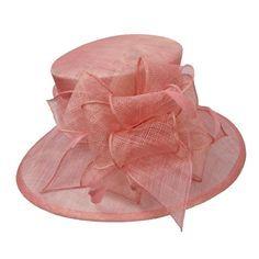 Downturned Brim Sinamay Hat
