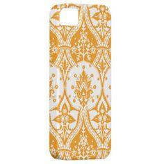 iPhone5 Case Orange Damask iPhone 5 Case Cell by JoyMerrymanStore