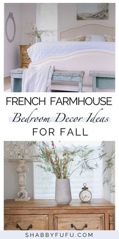 The best french country farmhouse bedroom ideas you can easily recreate in your own home with simple decor tips! These modern bedrooms are the dream of any french farmhouse style lover.  French Farmhouse Decor | master suite ideas | modern farmhouse bedroom decor #farmhousedecor #frenchbedroom #shabbychic
