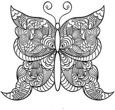 Butterfly mandala to color
