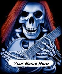 Personalized Skeleton With Guitar Mouse Pad ***FREE SHIPPING $9.95