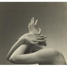 Edward Steichen, 'ILLUSTRATION FOR VOGUE' (HANDS OVER HEAD), 1934