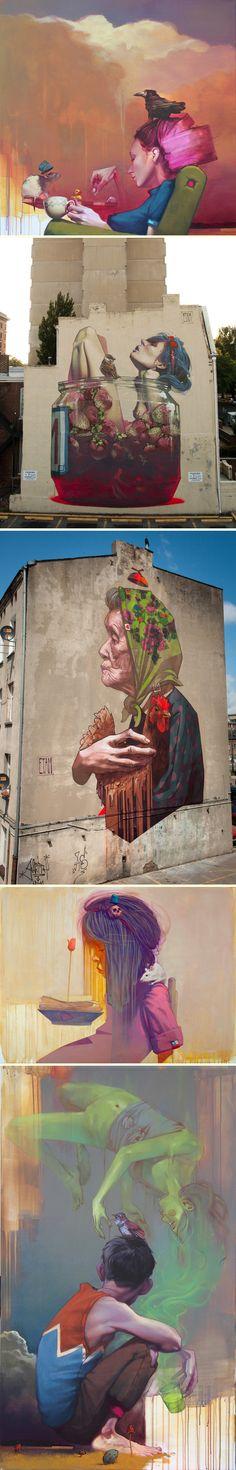 Colossal Urban Street Art by Etam Crew