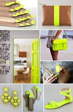 neon & neutrals... my favorite combos.