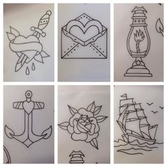 Traditional American tattoo designs
