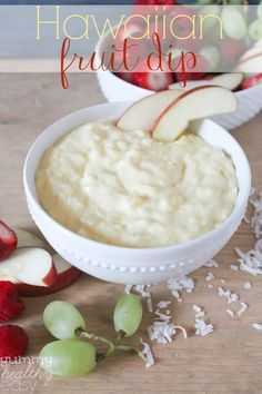 Hawaiian Fruit Dip - super yummy fruit dip with only five ingredients and one bowl. So delicious!