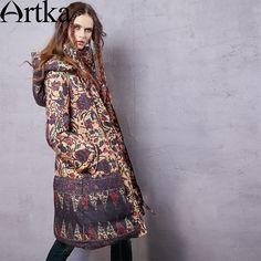 94f1e4a60ce9 Encontre mais Casacos de Plumas e Parcas Informações sobre Artka mulheres  de… Vintage, Druk